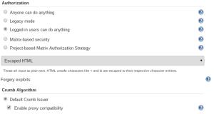 Jenkins Authentication Strategy